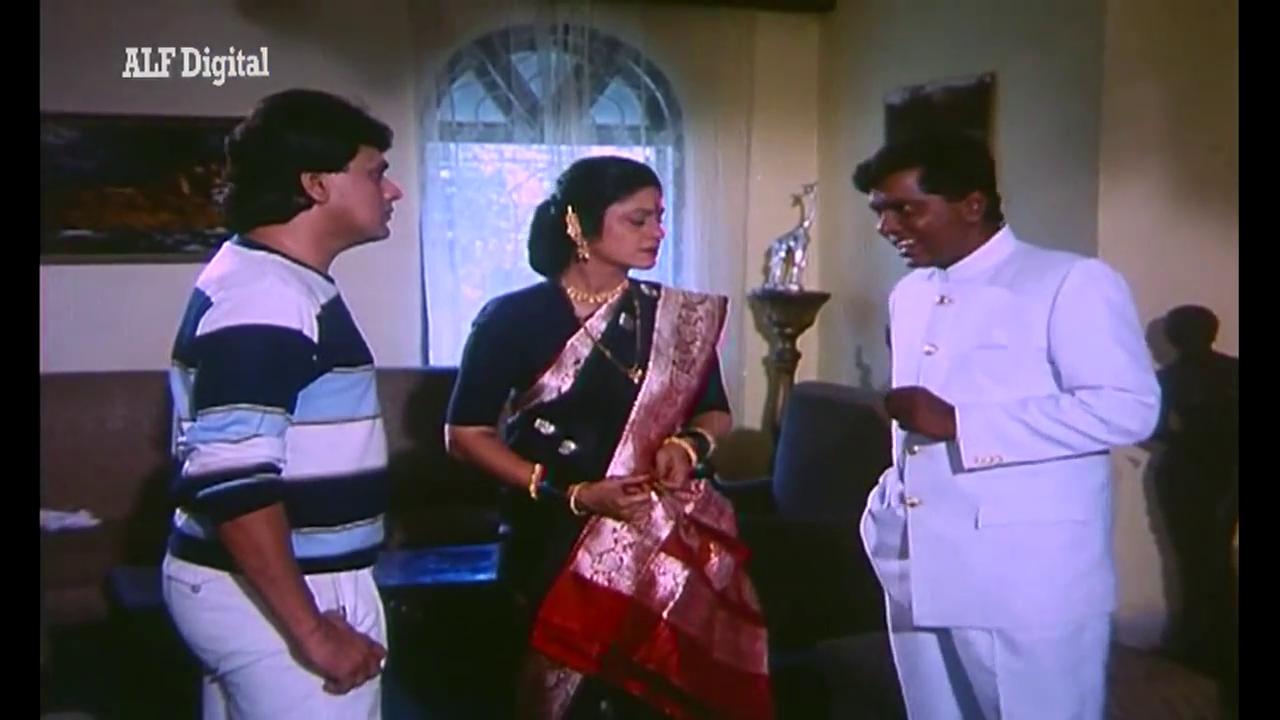 Aruna Irani, Sadashiv Amrapurkar and Abid in 'Yeh Raat Phir Na Aayegi'