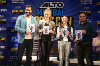 Ajay Devgn and the cast of 'Shivaay' launch the film's merchandise at Comic Con